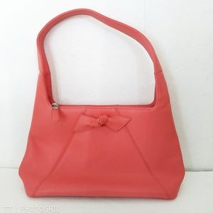 NWOT Talbots peach genuine leather purse